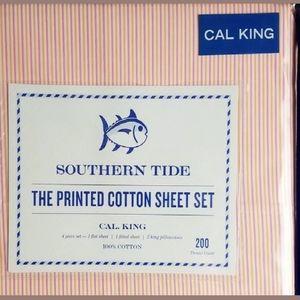 New Southern Tide California King Sheet set